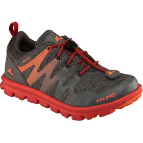 Viking Bislett GTX Shoes Juniors Charcoal/Red